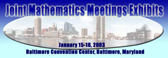 Joint Mathematics Meetings heading, January 15-18-2003, Balt Conv Center